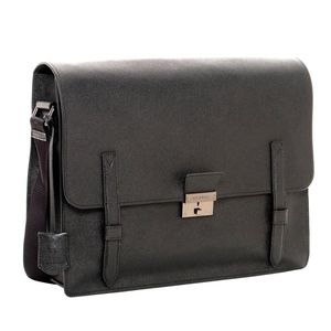 BURBERRY - LONDON RIVENDALE BLACK MESSENGER BAG